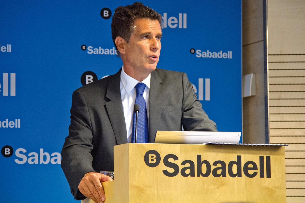 Banco Sabadell gana 123,4 millones de euros hasta junio, un 37% más