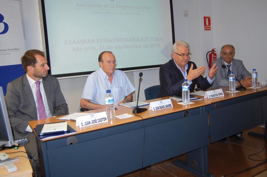 Francisco Gómez revalida la presidencia de la Asociación de la Empresa Familiar de Alicante