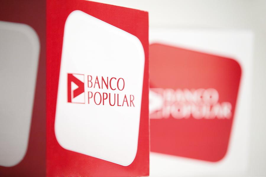 Banco Popular obtiene unos resultados un 10% inferiores que en 2015
