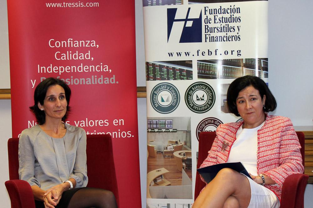 Sonsoles Santamaría de Tressis defiende en la FEBF la necesidad permanente de ahorrar