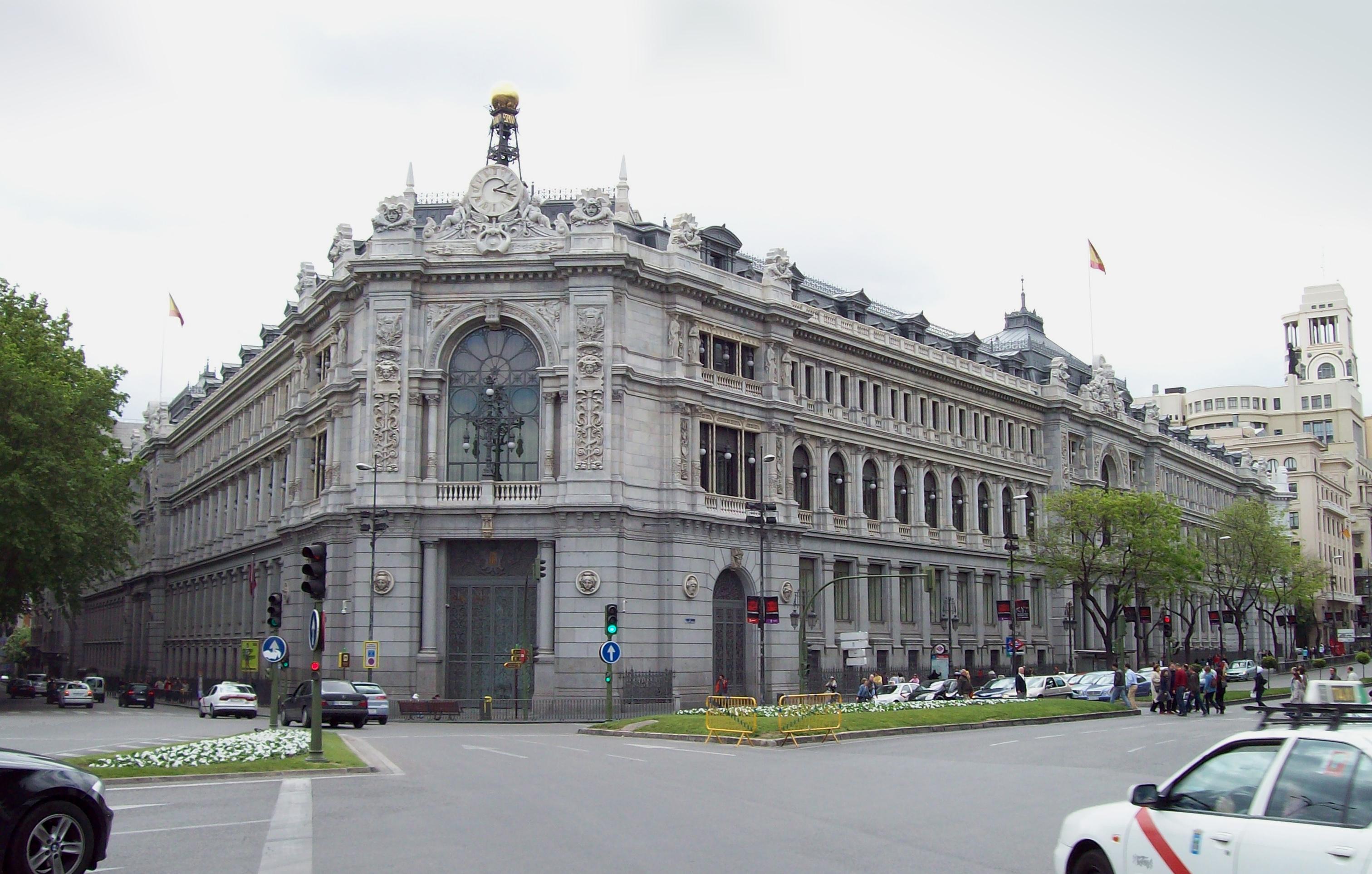 El Banco de España restaura su histórica fachada