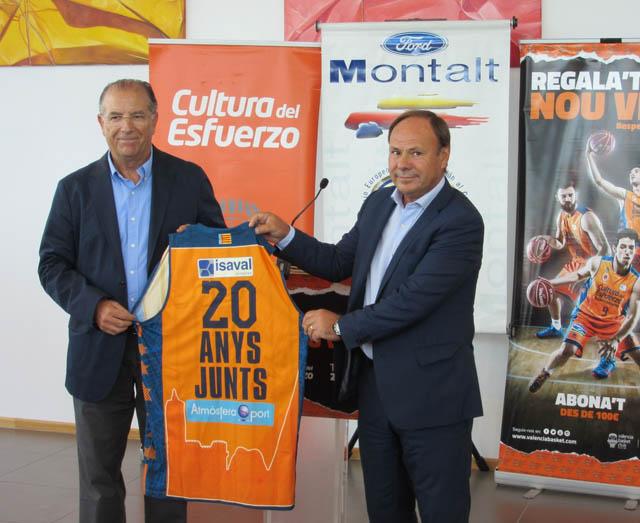 Ford Montalt cumple 20 años patrocinando al Valencia Basket Club