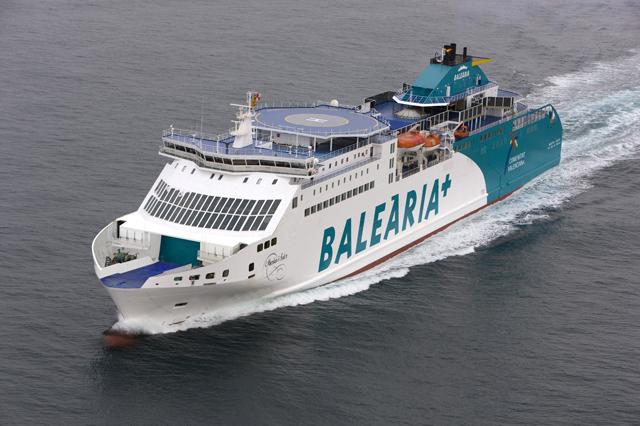Siete bancos financian 131 millones del nuevo ferry de Baleària, uno de los mayores del mundo