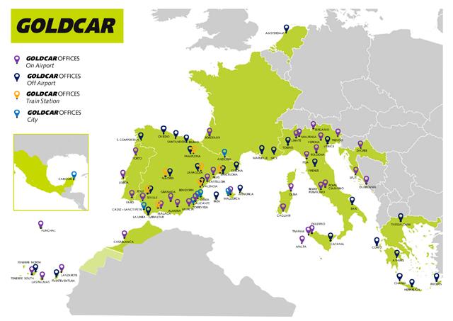 Goldcar ampl a su red en el sur de europa con nuevas for Oficinas goldcar