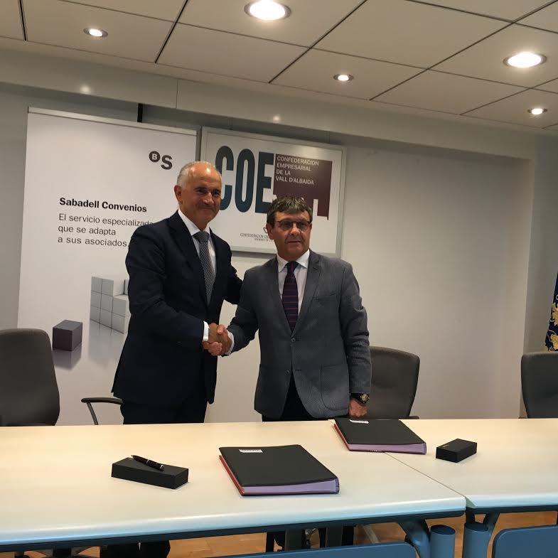 Banco Sabadell y Coeval firman un convenio de colaboración