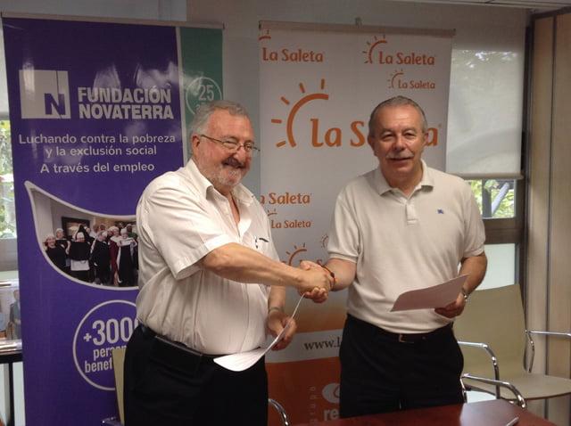 Acuerdo para formación y empleo inclusivo entre Fundación Novaterra y Geroresidencia