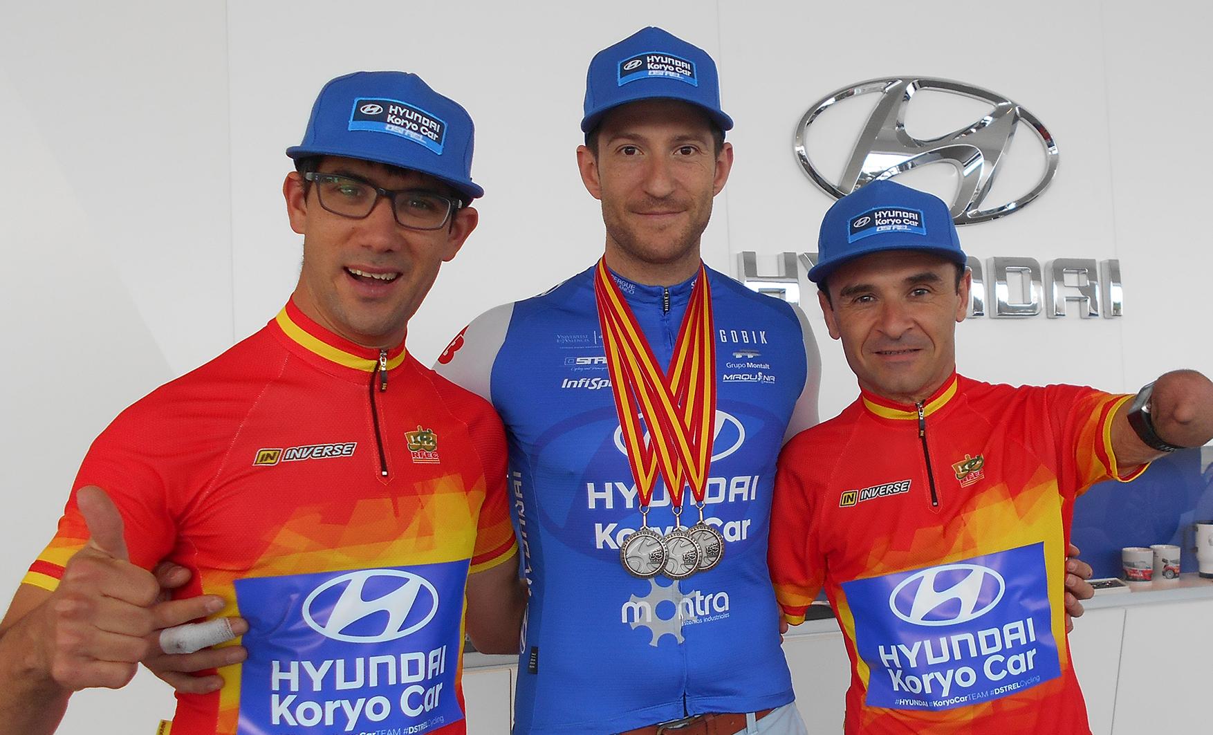 Grandes expectativas en el Campeonato de España de ciclismo adaptado en el Hyundai Koryo Car.