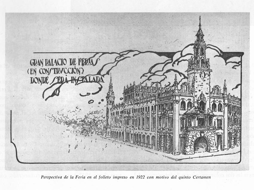 El primitivo proyecto de edificio ferial de Goerlich