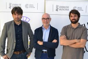 José Luis Moreno, Joan Álvarez y Carlos Madrid en la presentación del premio.