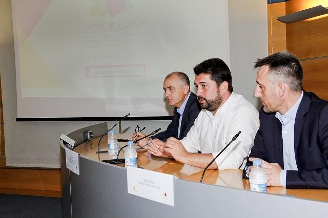 Enrique Soto, Natxo Costa y David Rosa en la presentación del