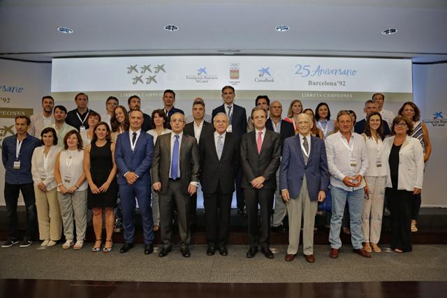 CaixaBank reúne a 74 medallistas olímpicos en el 25 aniversario de Barcelona'92