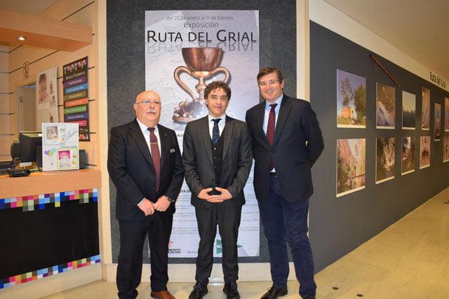 Exposición sobre la Ruta del Grial en El Corte Inglés Pintor Sorolla de Valencia
