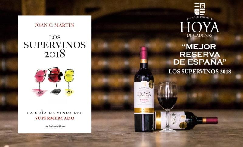 Hoya de Cadenas Reserva Tempranillo, el mejor vino de España según 'Los Supervinos'