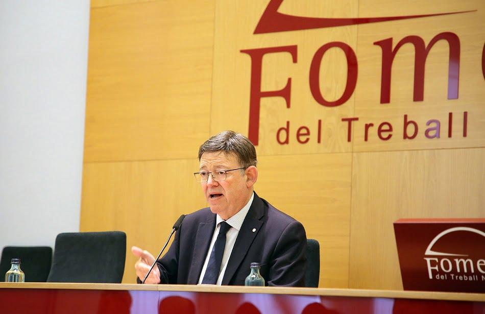 Puig defiende en Barcelona la 'vía valenciana' como modelo de estabilidad
