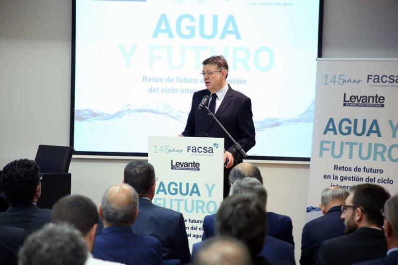 Puig pide asumir la responsabilidad compartida en el uso eficiente del agua