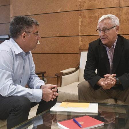 Imagen destacada Ribó aprovecha la reunión con Fulgencio para recordar la deuda de la Dársena