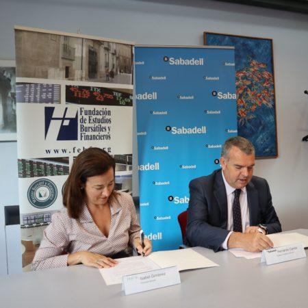 Imagen destacada Banco Sabadell facilitará el proceso de matrícula en postgrados de la FEBF