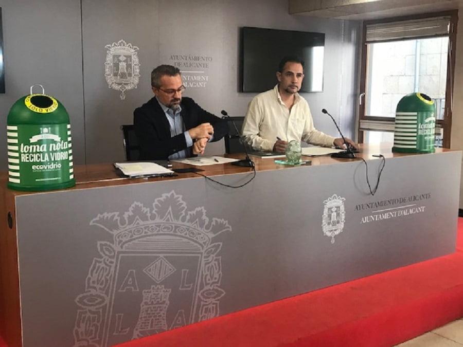 Alicante espera aumentar el reciclado de vidrio implicando al sector hostelero