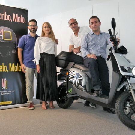 Imagen destacada Las motos eléctricas de Molo han evitado la emisión de 2,7 Tn de CO2 en València