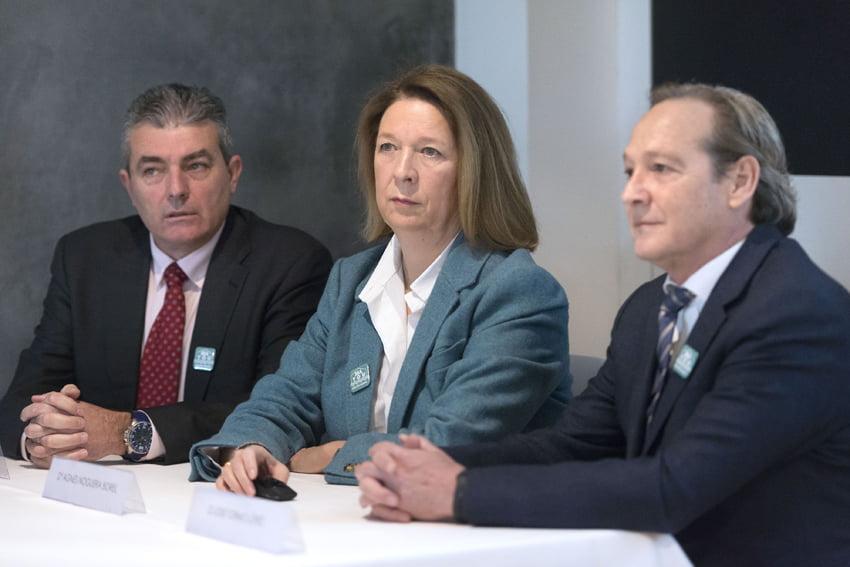 Responsables de Libertas 7, cuya consejera delegada esAgnès Noguera
