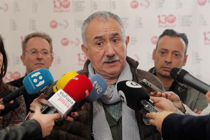 """Álvarez (UGT) pide a los empresarios que """"no hagan trampas"""" con los ERTE"""