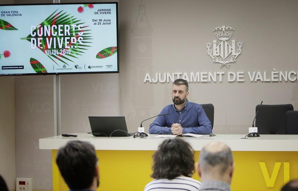 Pere Fuset presenta una programación variada en los Conciertos de Viveros 2018