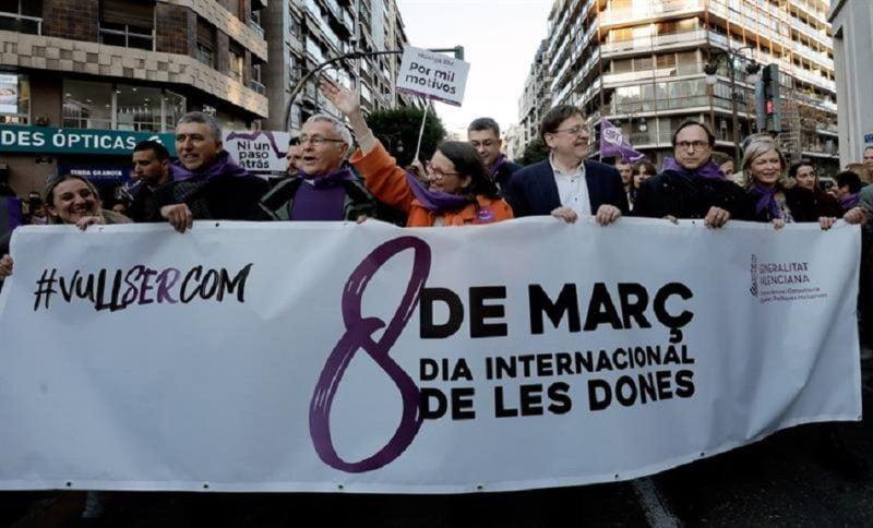 La huelga feminista tuvo más incidencia en el sector público y las grandes empresas