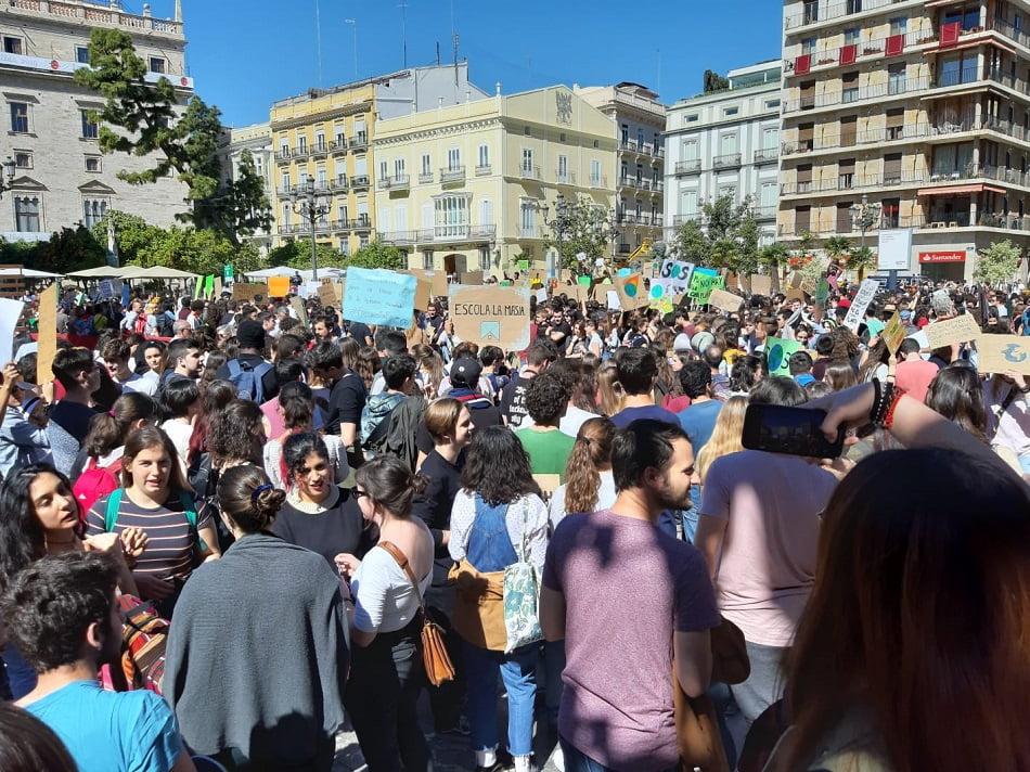 Imagen destacada Los jóvenes valencianos reivindican acciones contra el cambio climático