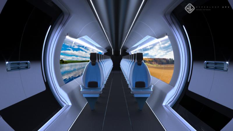 Interior de un hyperloop