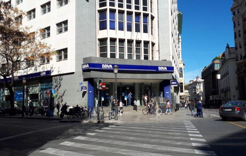 La sede del BBVA en Valencia