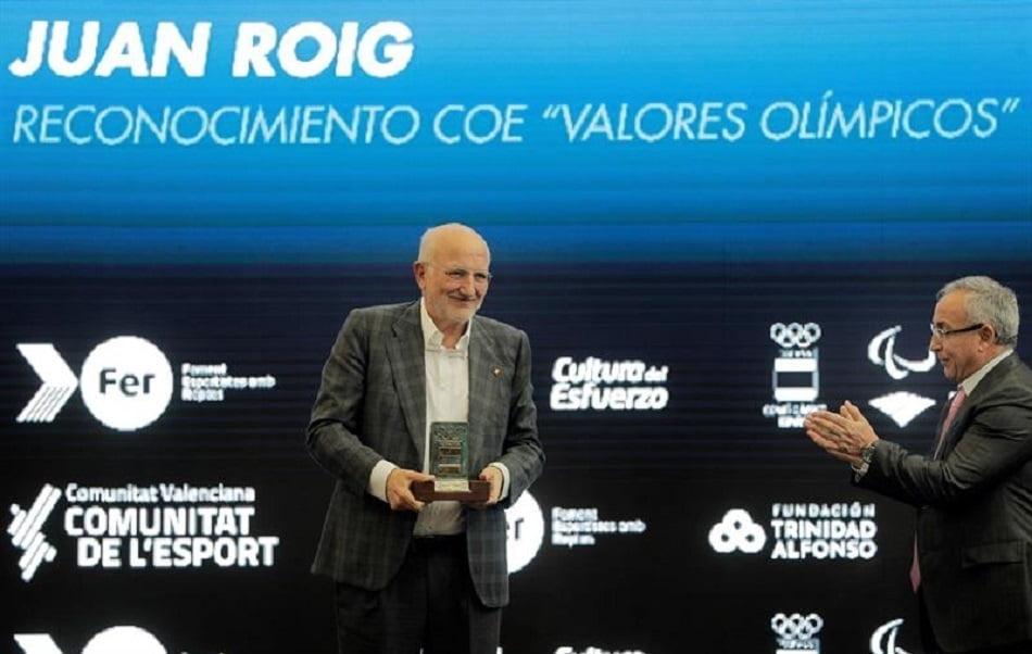 Imagen destacada Juan Roig recibe el premio 'Valores Olímpicos' otorgado por el COE