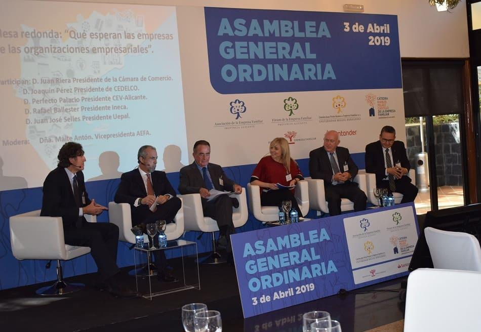Aefa propicia la puesta en escena de la unidad patronal en la provincia de Alicante