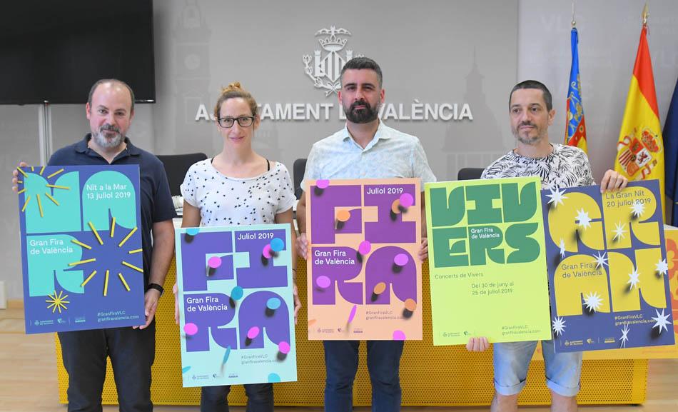 Explosión de color y tipografía vintage para la cartelería de la Feria de Julio