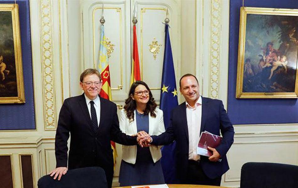 Imagen destacada Los partidos del Gobierno valenciano aplauden el preacuerdo Sánchez-Iglesias