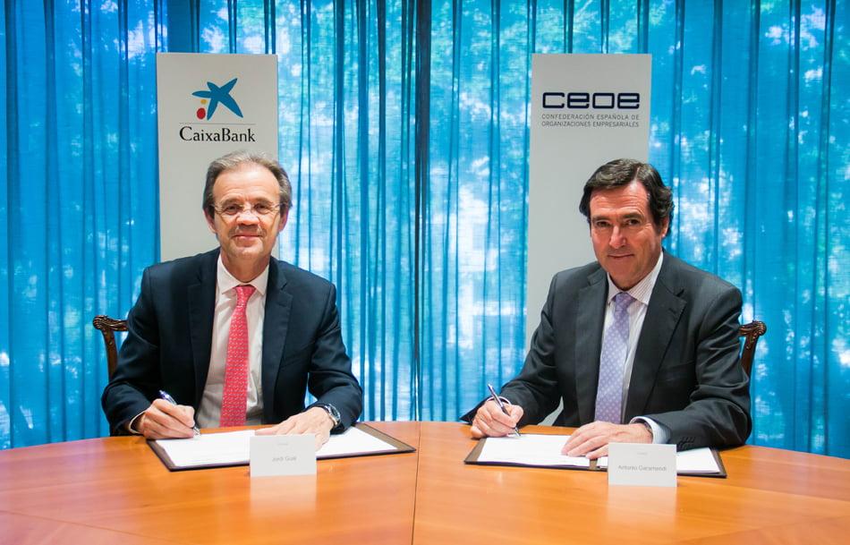 CaixaBank acuerda con la Ceoe una línea de crédito de 20.000 millones