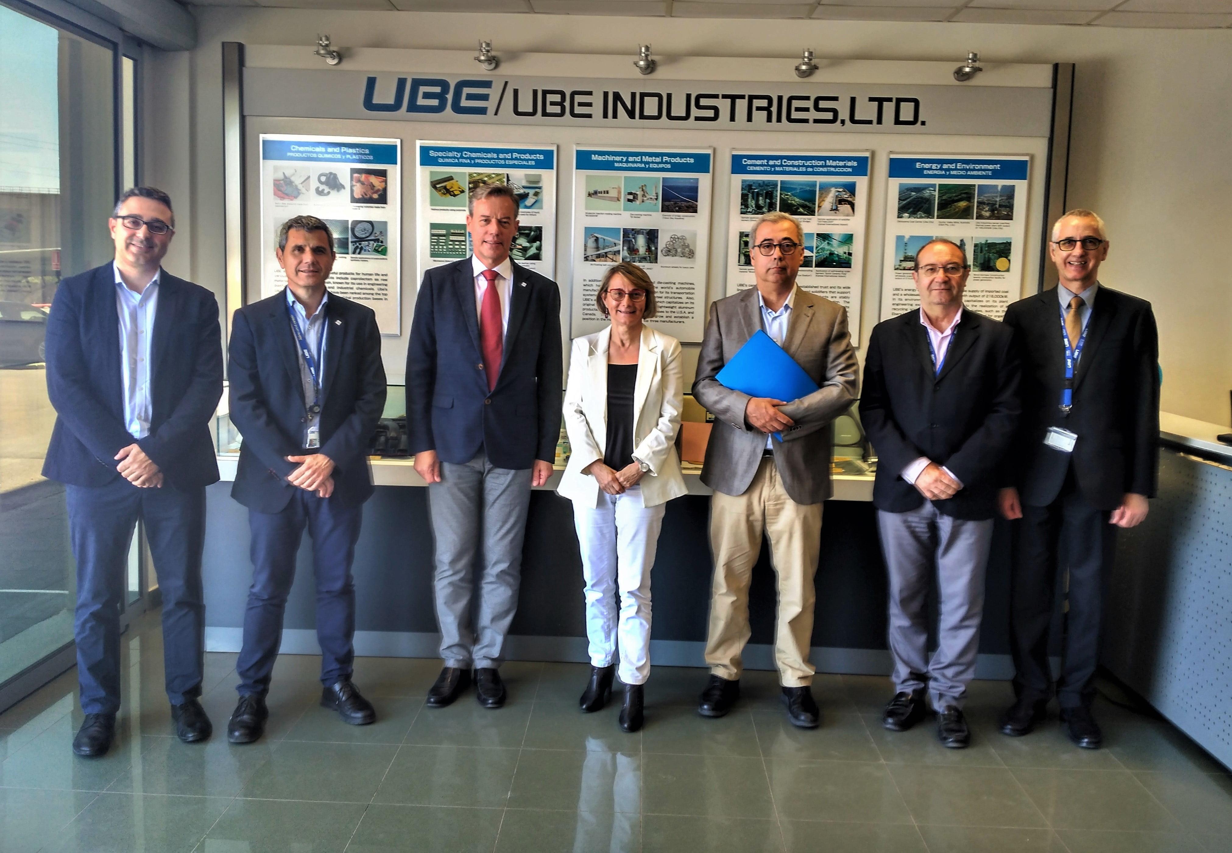 Imagen destacada Eva Alcón estrecha relaciones institucionales con la multinacional UBE Corporation Europe