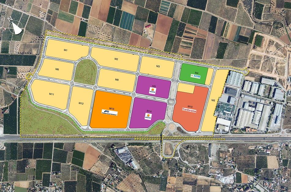 Imagen destacada Una gran área industrial en Llíria echa a andar con P. Electronics, Montó y Conforama