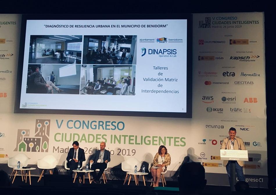Dinapsis expone en Madrid su proyecto de Resiliencia Urbana para Benidorm