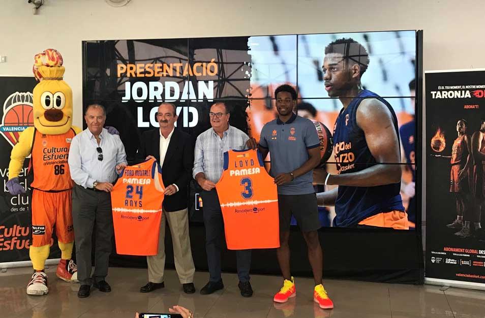 Ford Montalt acoge la presentación de Jordan Loyd, jugador del Valencia Basket
