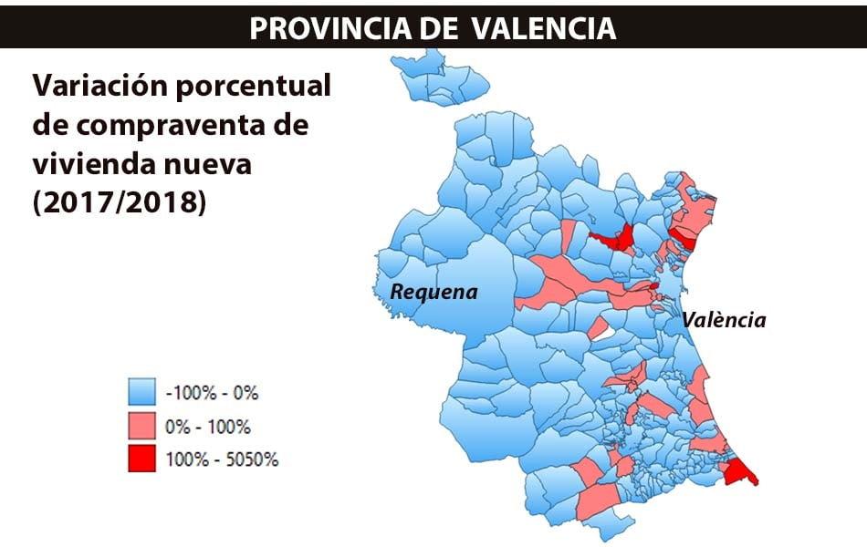 Imagen destacada Sólo ocho municipios de Valencia vendieron más de 100 viviendas nuevas