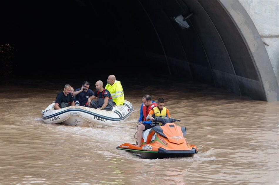 Imagen destacada Ferrocarril sin servicio, colegios y puentes cerrados a causa del temporal
