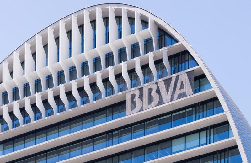 Fachada de la sede del BBVA