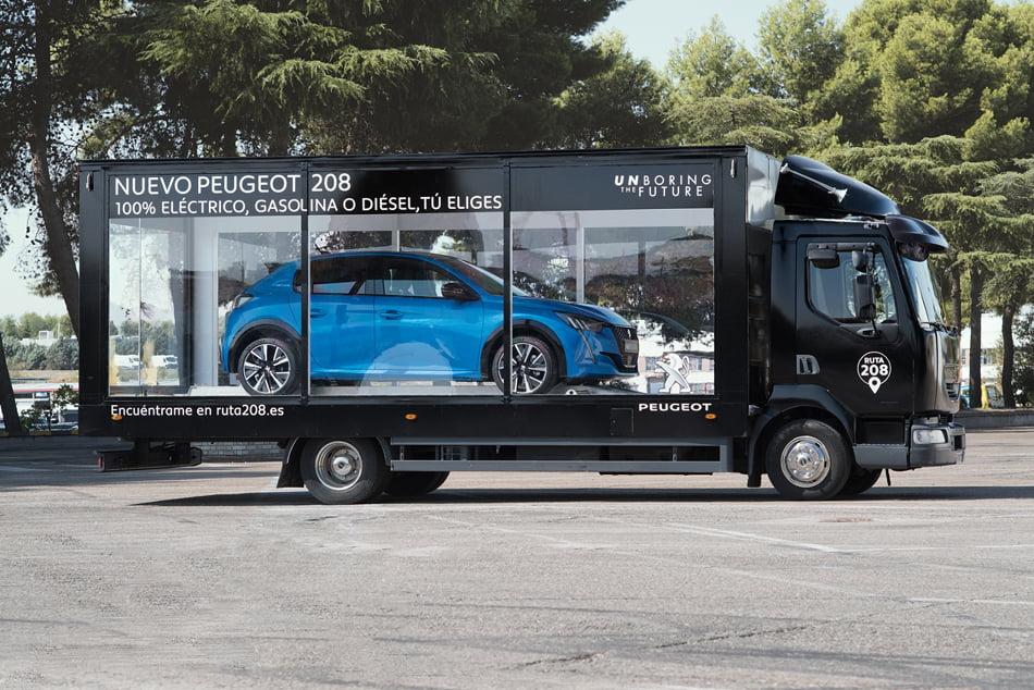 Imagen destacada Peugeot presenta el nuevo 208 en un escaparate itinerante