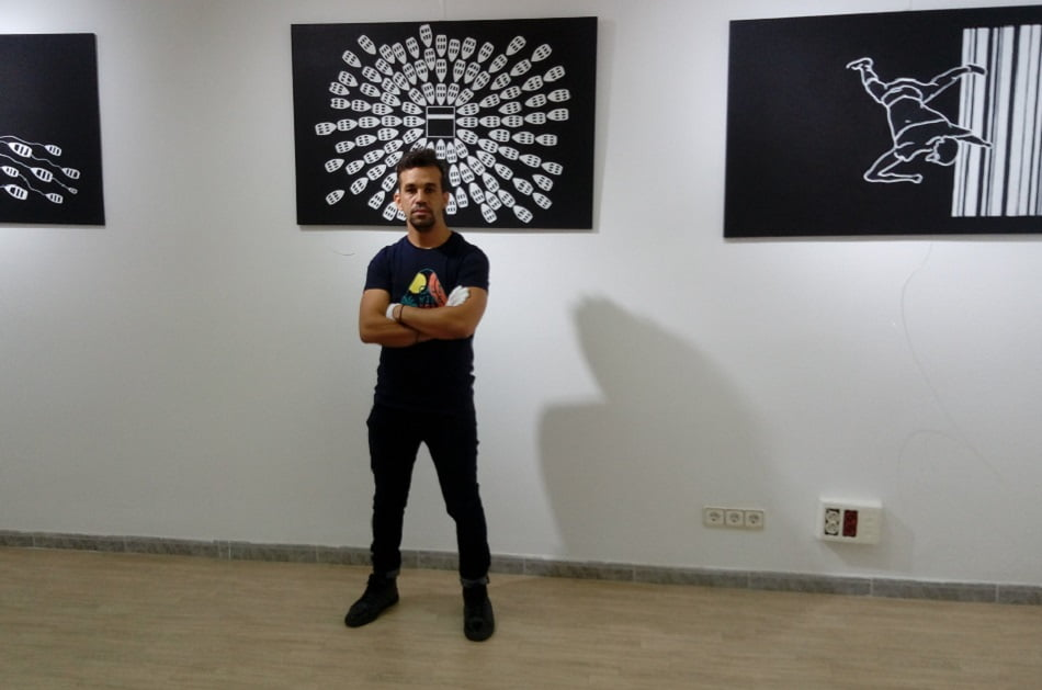 Imagen destacada Mostra Viva exhibe la obra de F. Boutaba, artista argelino que llegó en una patera