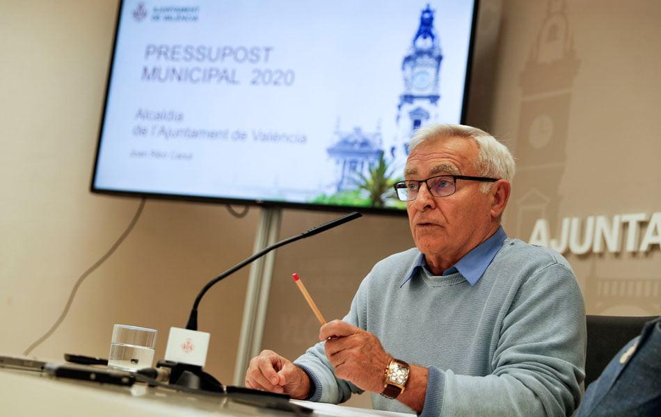 València contará con un presupuesto de 898 millones para 2020, el más alto de su historia