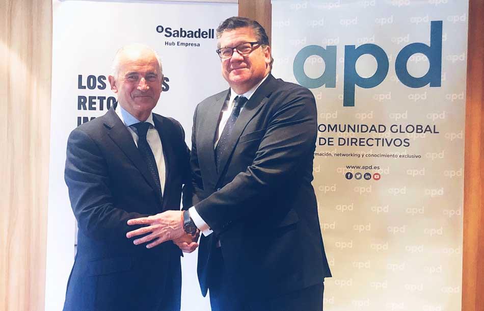 APD y el Sabadell acuerdan colaborar en formación para el liderazgo