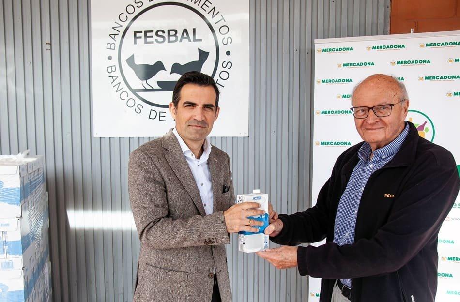 Imagen destacada Mercadona entrega 10.800 litros de leche al Banco de Alimentos de Alicante
