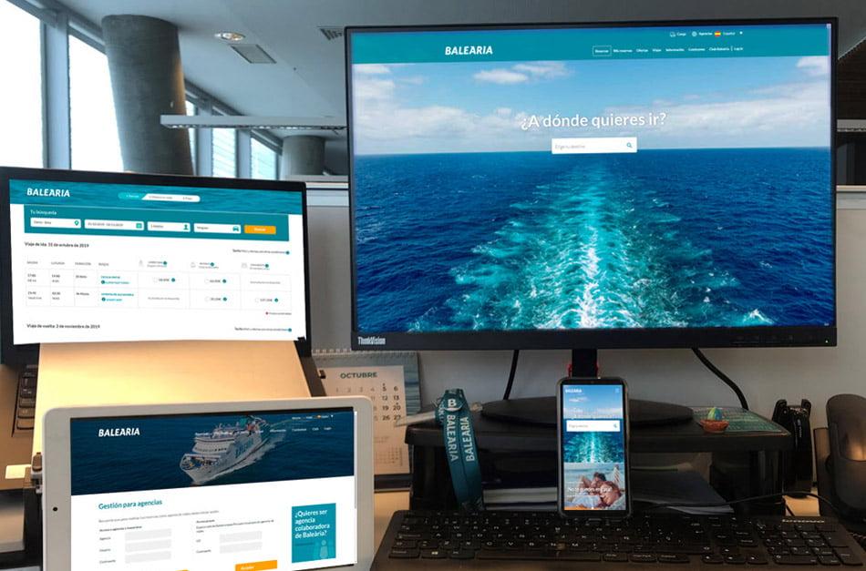 Imagen destacada Baleària lanza una nueva web de reservas más intuitiva y visual