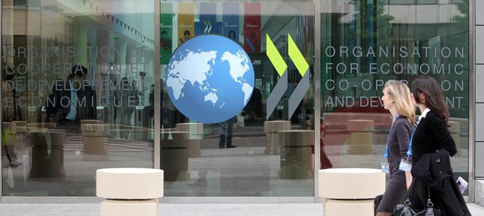 Puerta de entrada a una de las sedes de la OCDE