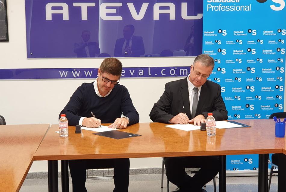 Ateval acuerda con Banco Sabadell condiciones especiales para sus socios